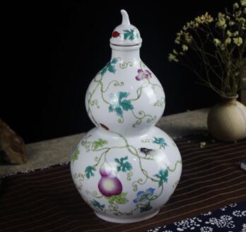 葫芦酒瓶,高档陶瓷酒瓶